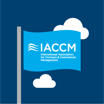 IACCM logo on a flag