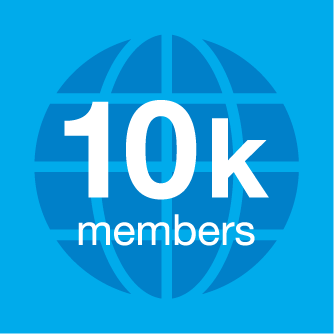 Graphic ten thousand members